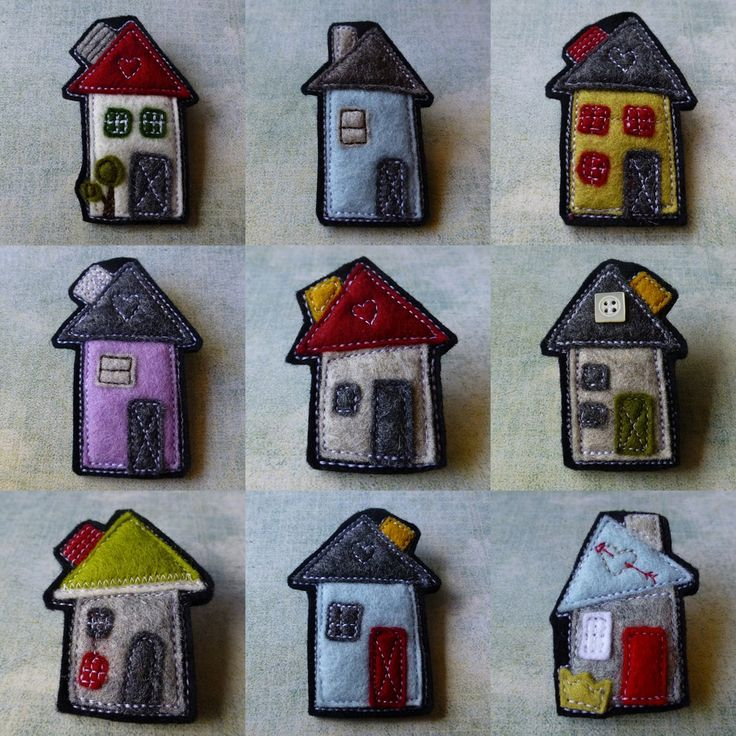 eclectic me blog: The House Series of Wool Felt Brooches by Gillian Hamilton
