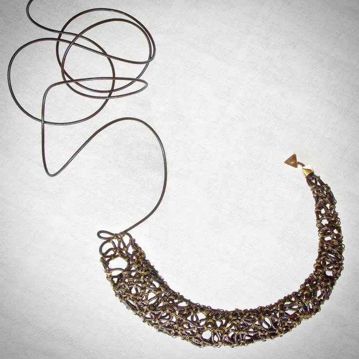 Letra Necklace in progress