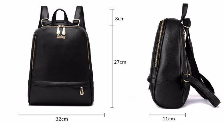 Кожаный рюкзак женщина мода черные кожаные рюкзаки для леди искусственная кожа высокое качество женщина рюкзаки 1BB04 купить на AliExpress