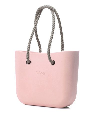 Look what I found on #zulily! Powder Pink Natural Rope Handle O Bag by O Bag #zulilyfinds