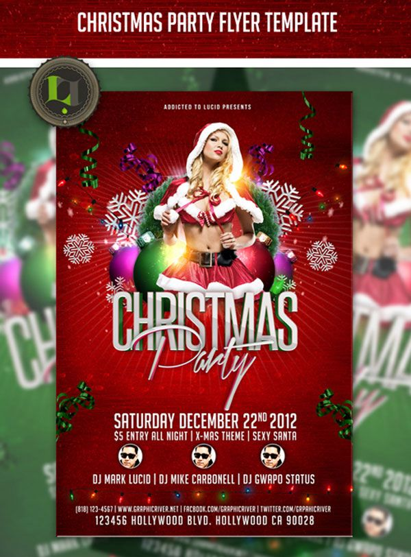 Christmas Party Flyer Psd Designrshub Gallery