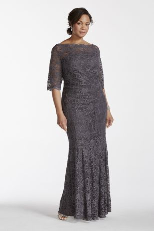 In this beautiful lace dress perfect for any mother of the bride dress