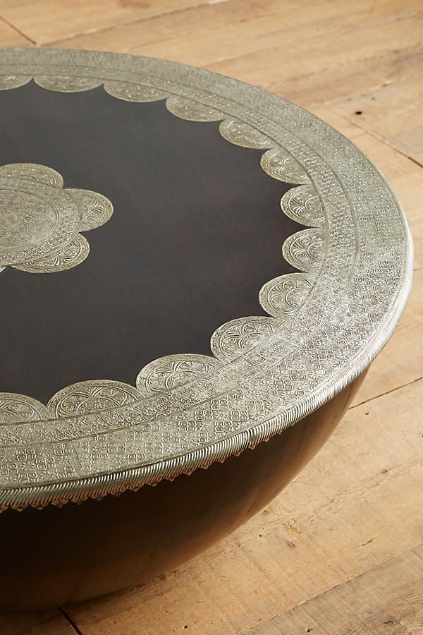 Embossed Meridian Coffee Table Breathtaking Indian style Storage would make it perfect!