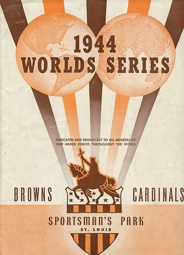 1944 World Series Program St Louis Browns vs St Louis Cardinals Unscored | eBay