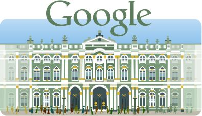 Google Doodles | 250th Anniversary of the Hermitage Museum, December 7, 2014