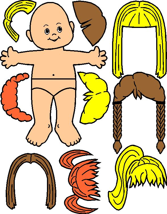 Paper dolls for Kaper Chart
