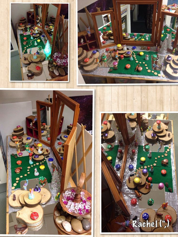 Woodland creatures, fairies & homemade toadstools from