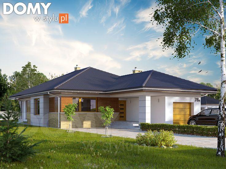 Projekt domu Aster 2 - wizualizacja frontowa