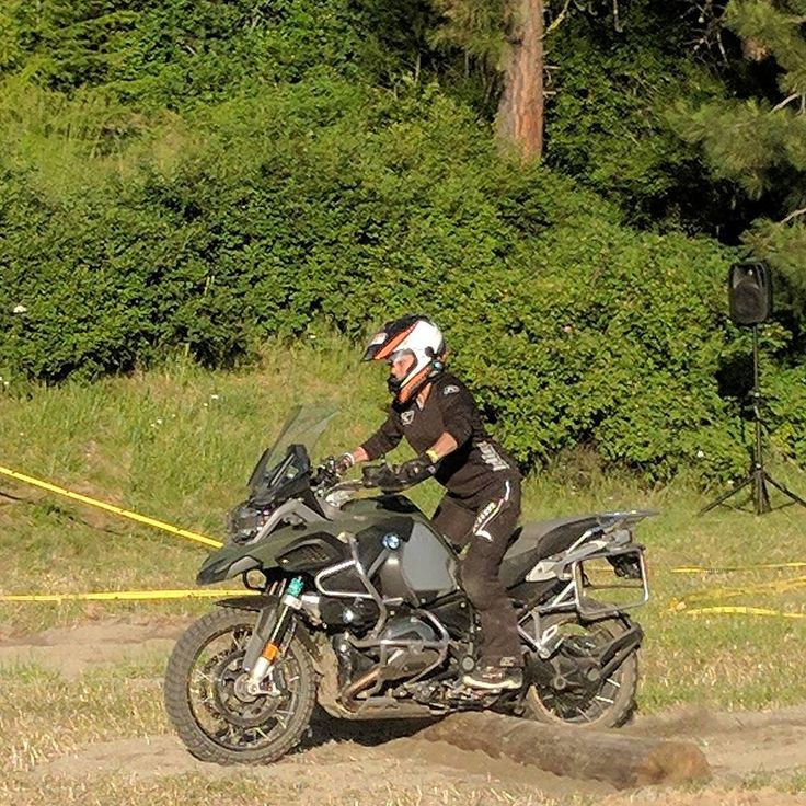 Jocelyn rocking it on the Touratech Challenge Course!! #womenadvriders #challengecourse #touratechrally #bmwgsgirls