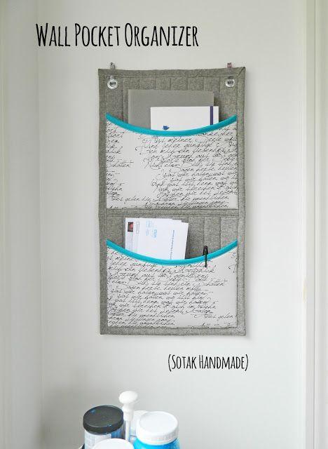 Wall Pocket Organizer ~ a tutorial by SOTAK Handmade.