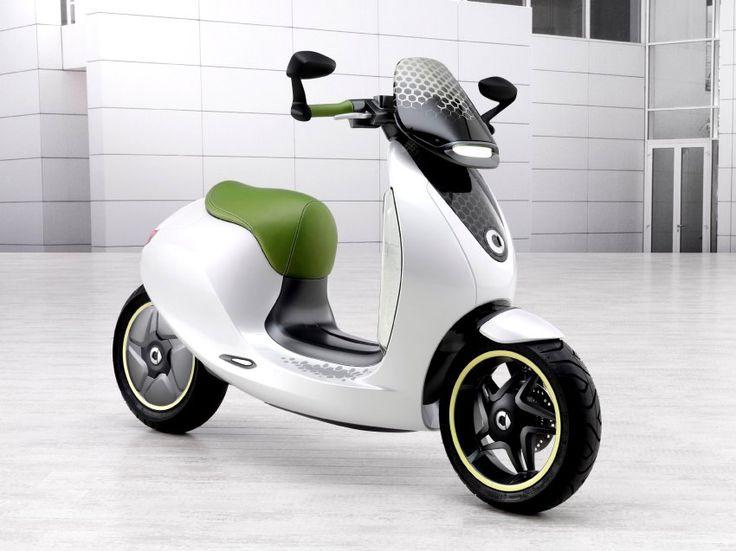 Smart E-Scooter: Weiß und mit grünem Sitz - so reinlich wie der Elektroroller...