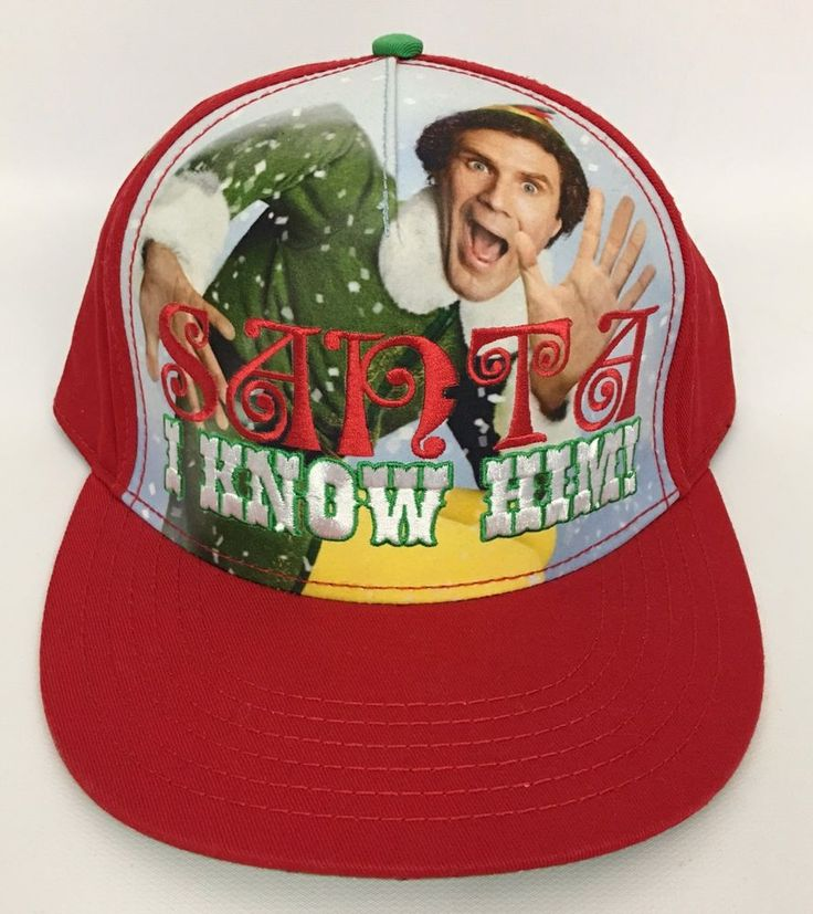 Elf The Movie Santa I Know Him! Men's Snapback Hat Cap Christmas Will Ferrell  #Elf #BaseballCap
