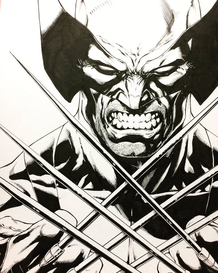 Wolverine for @FANEXPOCANADA .  I always draw a few Wolverines for my Canucks brothers and sisters.