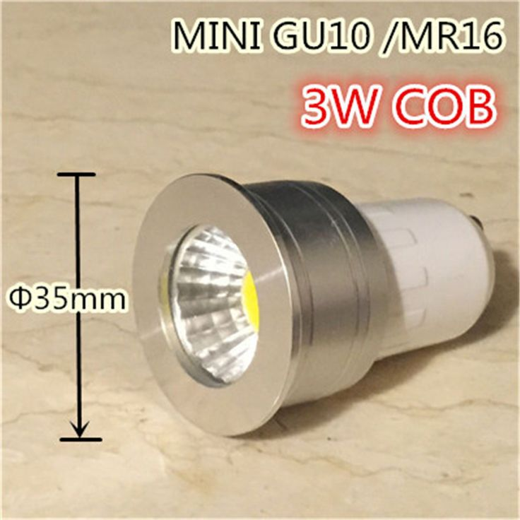 small lamp mini gu10 35mm spotlight 3w dimmable led bulb 220v 12v mr16 mr11 spot lamp for living room bedroom table lamp small  EUR 2.05  Meer informatie  http://ift.tt/2r4Ba7f #aliexpress