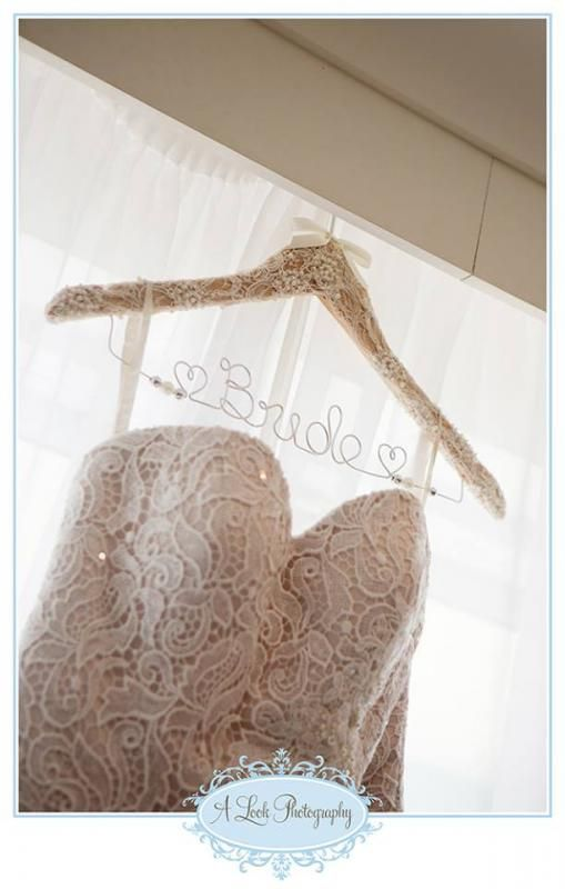Stunning lace covered wedding coat hanger coats lace for Wedding dress coat hanger