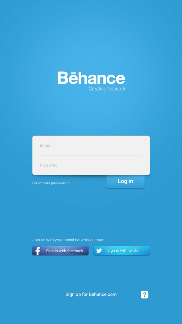 Behance Network App GUI on Behance Mobile Android webdesign design designer inspiration user interface ui