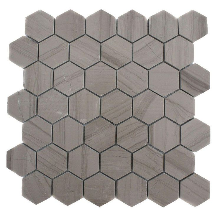 Splashback Tile Athens Grey Hexagon 12 In. X 12 In. X 8 Mm Polished Marble Floor And Wall Tile
