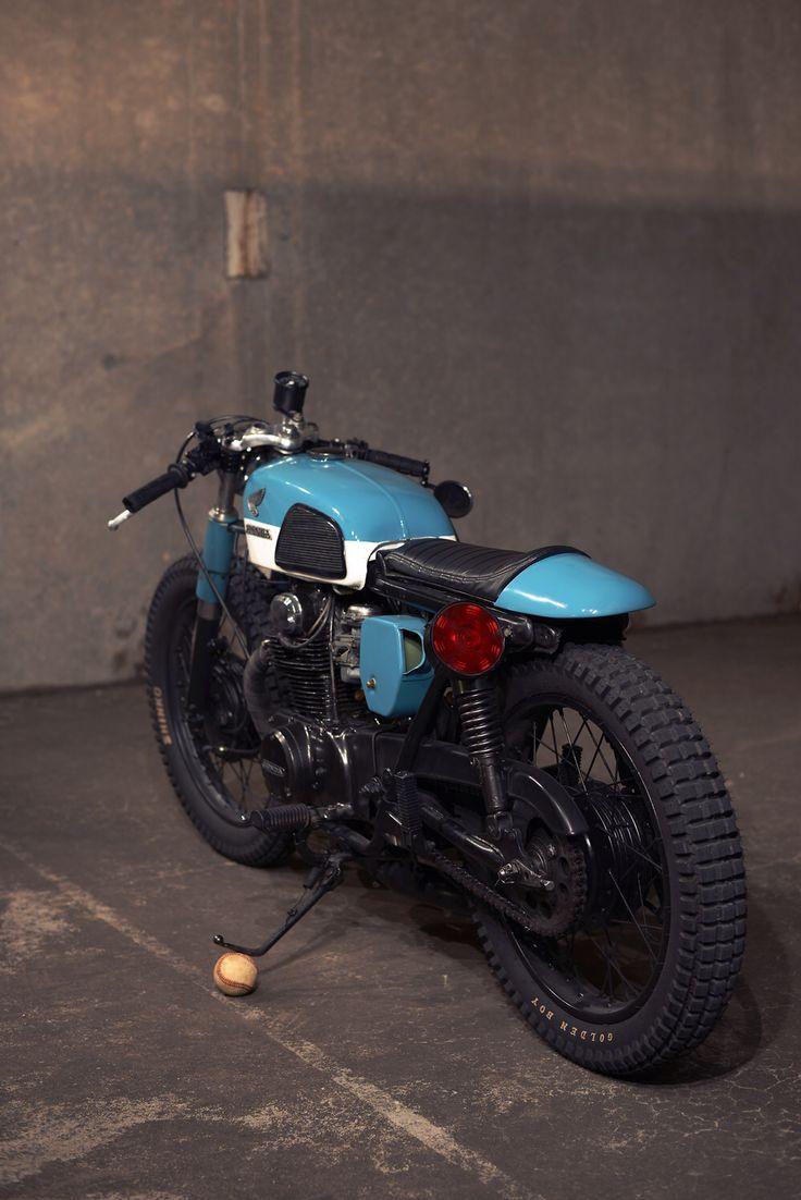 1973 Honda Cl350 Lagoon Blue Shinko Trail Tires Handmade