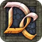 Dungeon floor texture with walls as borders. Initials as icon.