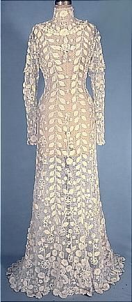 Antique Dress - Irish crocheted Art-Nouveau. 1908. *sigh*