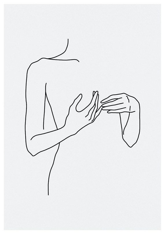 Skizze # 46 LINE ART PRINT minimalistisch Strichze…