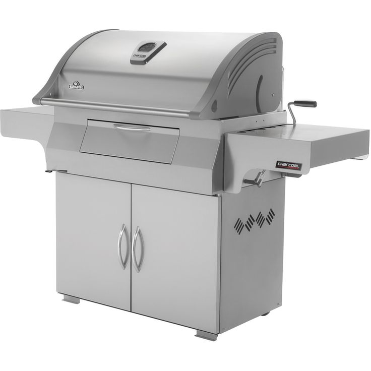 Traditional charcoal grilling is easy Napoleon Charcoal Professional Grill (PRO605CSS) at your disposal. A commercial quality full sized cooking charcoal grill.