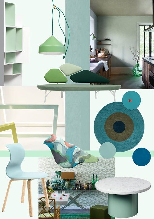 Interior Decoration Colors Trends - Moodboard Blue Lagoon - Home Decor Inspiration in Green & Blue Shades!