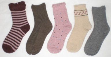 Amazon.co.jp: 女性用靴下ウォ-ムビズ スベリ止め毛混ソックスおまかせ5足福袋セット: 服&ファッション小物