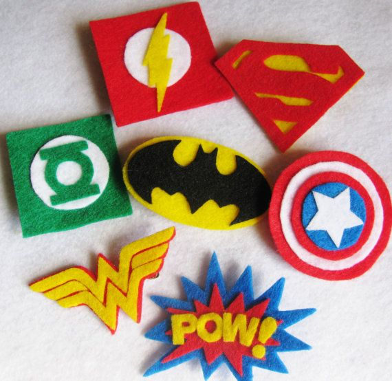 Superhero hair clips! My daughter will  love these.