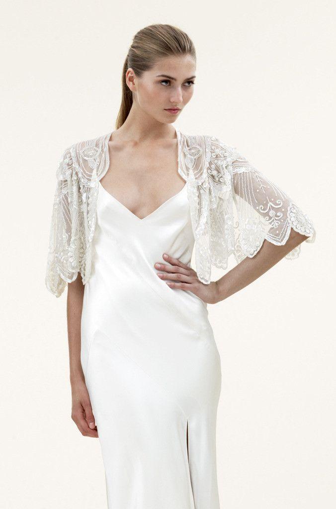 Best 25 bridal jackets ideas on pinterest lace jacket for Wedding dress bolero jacket