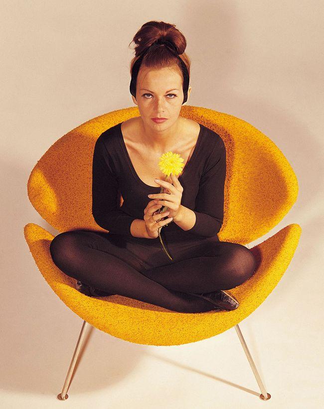 Orange slice chair.