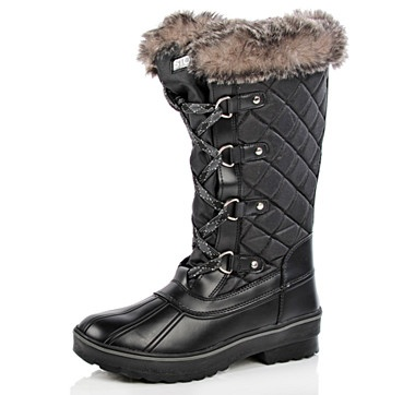 #ilovetoshop    Cougar Aspen Tall Quilted Boot - BLACK