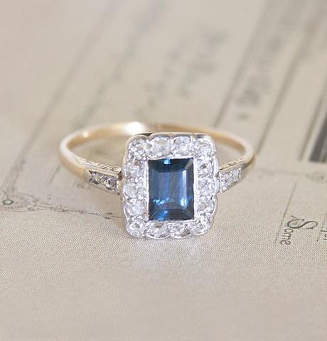 Late Edwardian Sapphire and Diamond Ring, $1,600.00