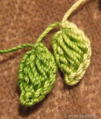 Crochet Leaves - Tutorial {{It's in another language...might be able to figure out through the photos.}}
