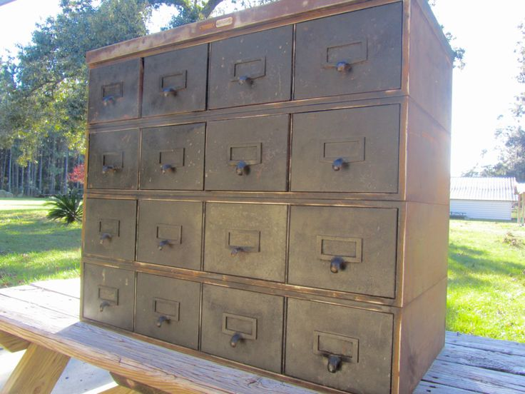 Metal cabinet,Vintage Cabinet, metal drawer,industrial dresser, storage cabinet,industrial furniture, organizer,small drawers, tool box, by KarensChicNShabby on Etsy