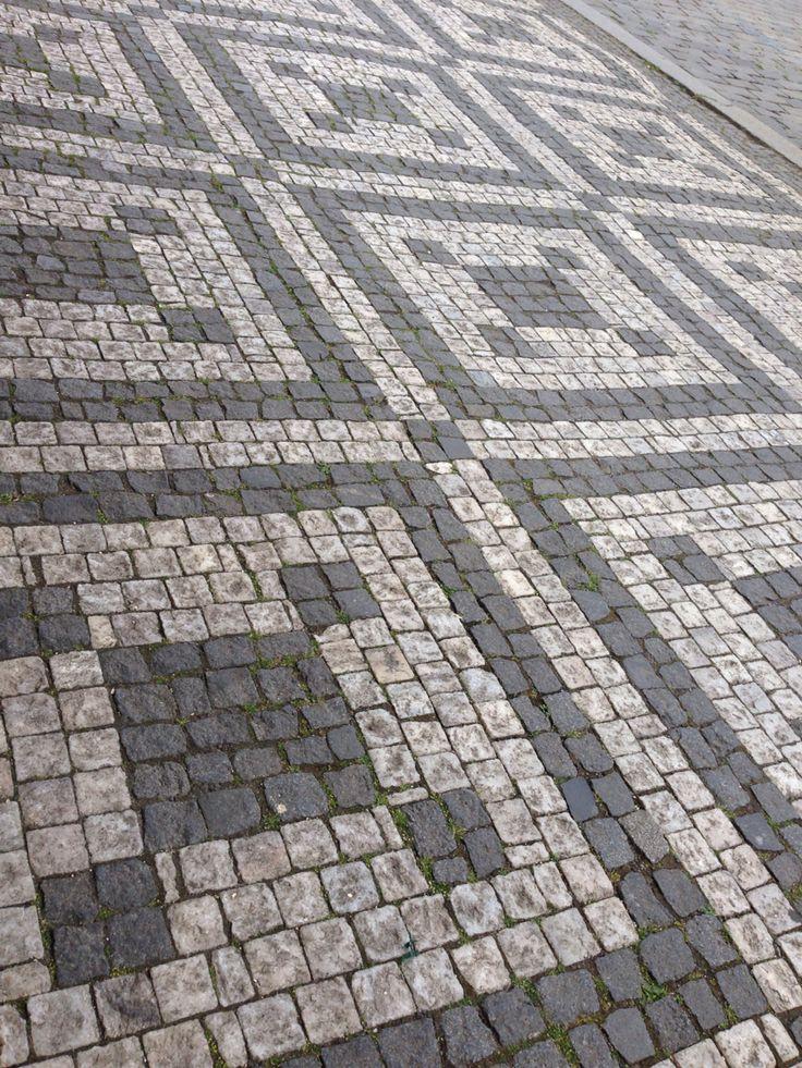 Pavement stones Prague public square