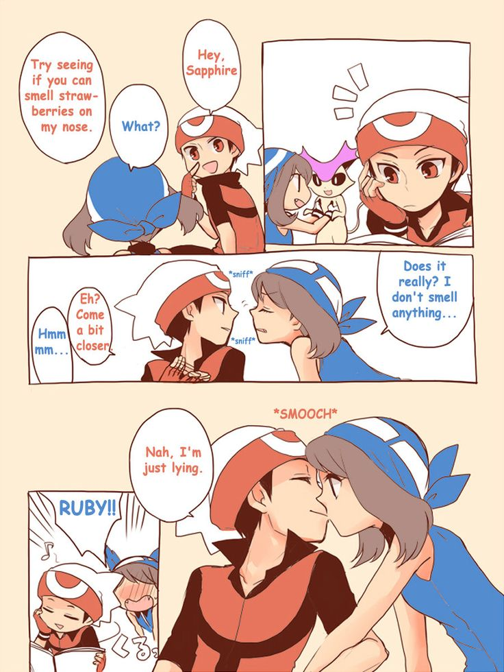 I can see Ruby doing this. I can also see what's going to happen next. Sapphire will come over to Ruby and slug him. Can anyone else see that happening?