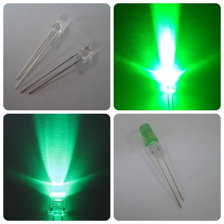 epistar chip LED diode round 5mm green