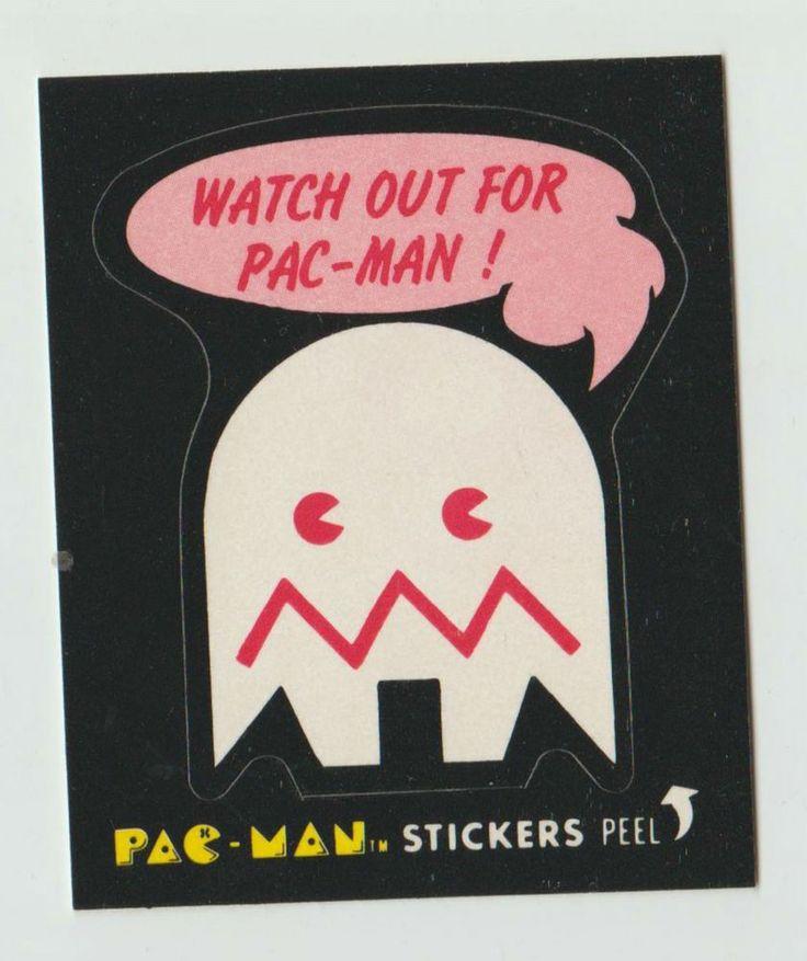 Vintage fleer packman sticker no 46 of 54 1980