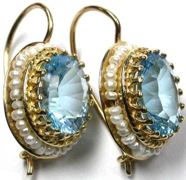 TOPAZ 14KT YELLOW GOLD EARRINGS  26.65 CTS    GTJA307  topaz gemstone earrings , gemstone silver earrings