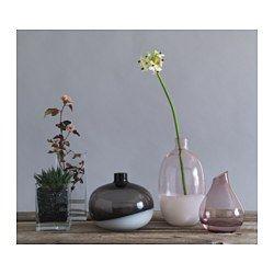 IKEA - SANNOLIK, Florero, El florero de vidrio ha sido fabricado a mano por un artesano cualificado.