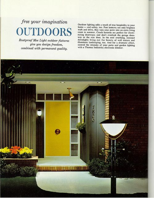 31 best images about front entry on pinterest mid - Mid century modern exterior lighting ...