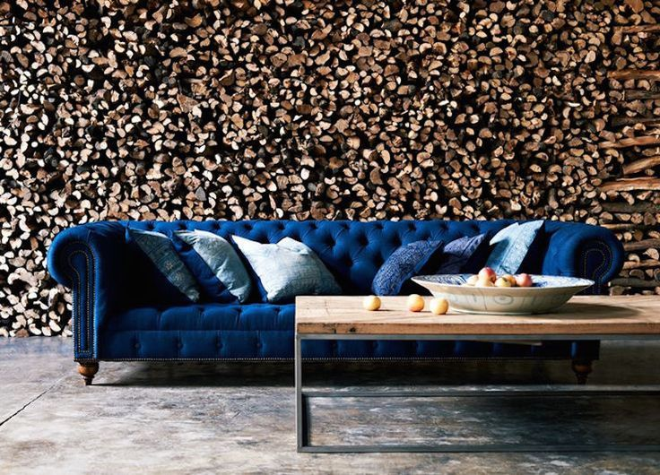 blue velvet couch sofa blauwe fluwelen bank velours