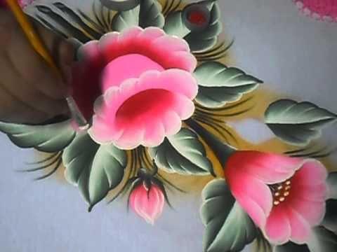 È muito simples pintar esse lírio !!!!