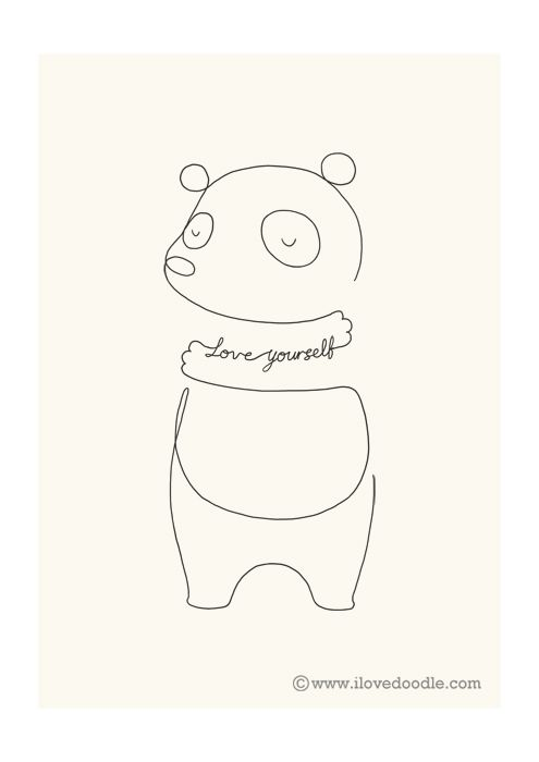 Line Drawing Of Yourself : Best panda tattoos images on pinterest
