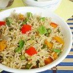 vegetable biryani in pressure cooker recipe , how to make vegetable biryani in pressure cooker
