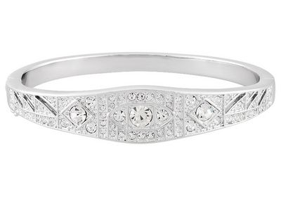 This stunning silver bangle would make a beautiful bridesmaid gift or a surprise for your Valentine! Titanic Jewelry Collection (Tm) Madeline's Radiant Bangle