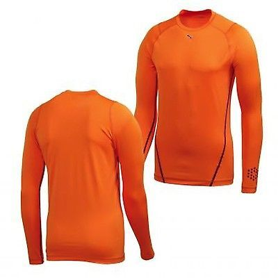 Other Mens Fitness Clothing 40892: New Rare Puma Men S Monoline Long Sleeve Vibrant Orange Tee Size Xl -> BUY IT NOW ONLY: $44.99 on eBay!