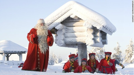 If meeting Santa is on your Christmas to-do-list then a trip to Rovaniemi in #Finland is a must. The village in Lapland, located just north of the Arctic Circle, has become known as the Christmas HQ -- where kids and adults can make gingerbread cookies with Mrs. Claus or enroll in Elf School.