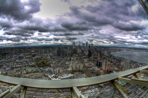 Roadtrip USA- Seattle from the top off the Space Needle